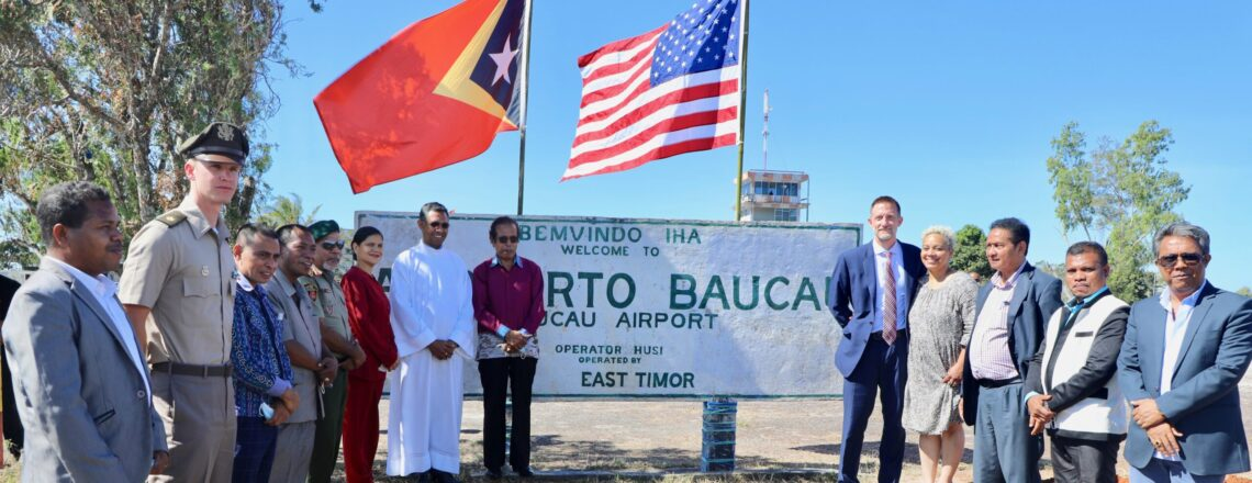 Prime Minister and U.S. Ambassador Hold Ground-breaking Ceremony at Baucau Airfield