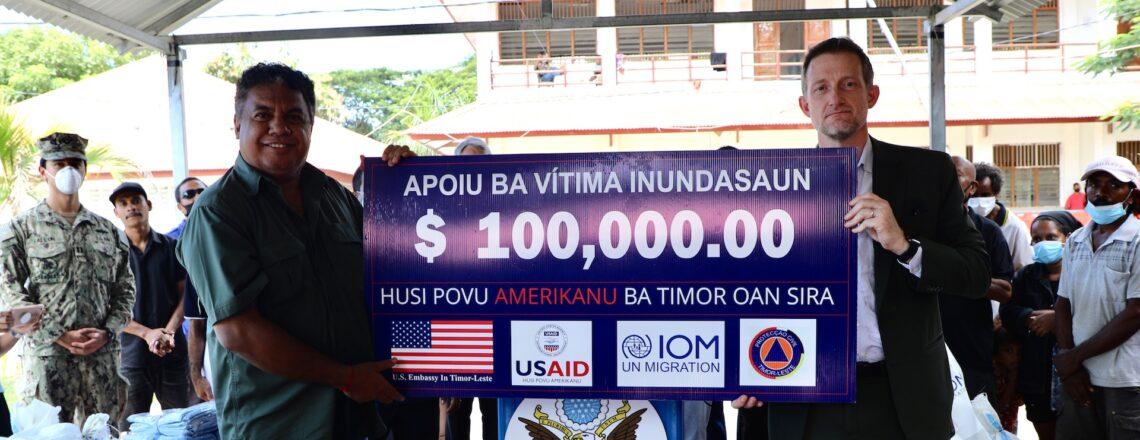 United States Provides Disaster Assistance after Floods in Timor-Leste