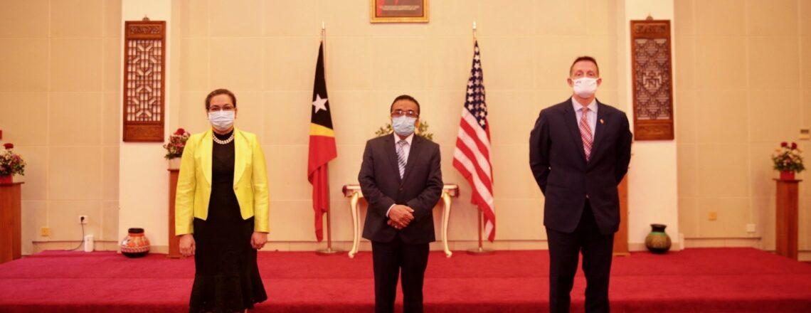 U.S. Ambassador Kevin Blackstone Presents Credential Letter to President of Republic