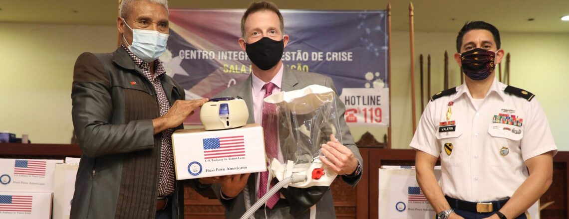 U.S. Embassy Dili Provides Medical Equipment to Treat COVID-19 Patients