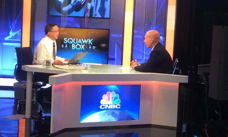 Under Secretary Stefan Selig at CNBC's morning program (State Dept.)