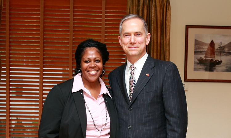 Consul General Hart and Lori Granito (State Dept.)