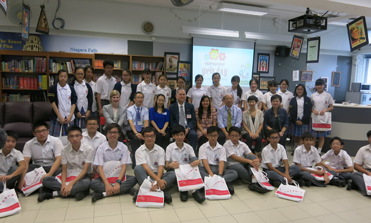 Consul General Hart at HKMA K S Lo College (State Dept.)