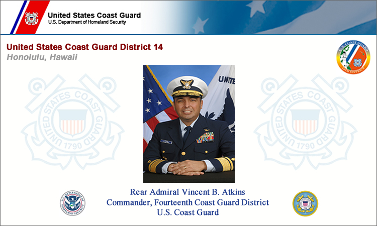 Rear Admiral Vincent B. Atkins, Commander, Fourteenth Coast Guard District, U.S. Coast Guard (© U.S. Coast Guard)