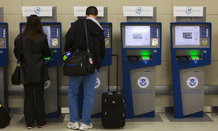 Global Entry and APC Kiosks, located at international airports across the nation, streamline the passenger's entry into the United States. (U.S. Customs and Border Protection)