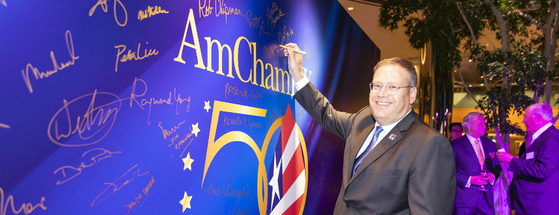 CG Tong's Remarks at a Reception to Celebrate the AmCham in Hong Kong's 50th Anniversary