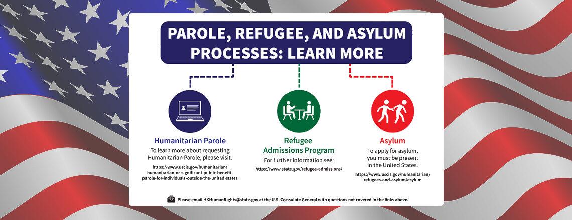 Parole, Refugee, and Asylum Processes