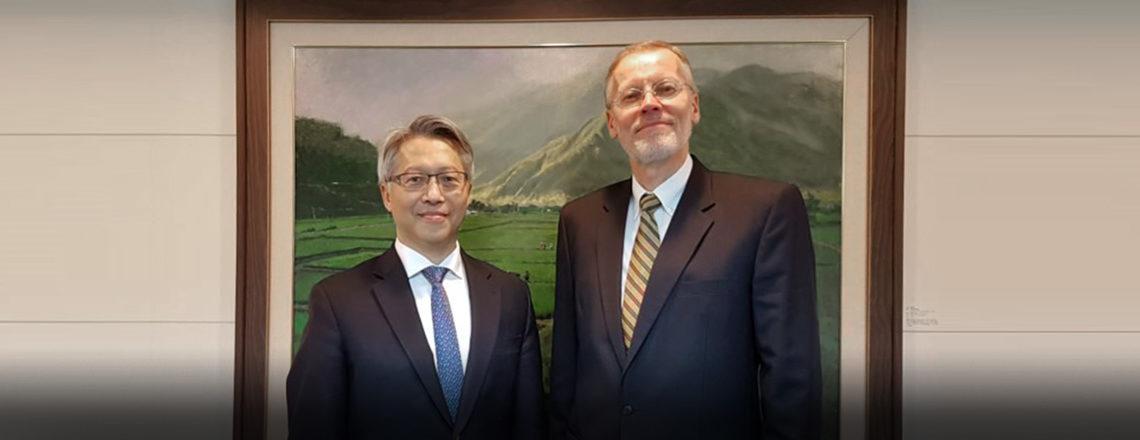 AIT Director Christensen met with Academia Sinica President James Liao