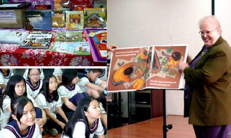 美國在台協會與宜蘭市立圖書館推動「英文童書巡迴書箱」計畫 (Photo: AIT)