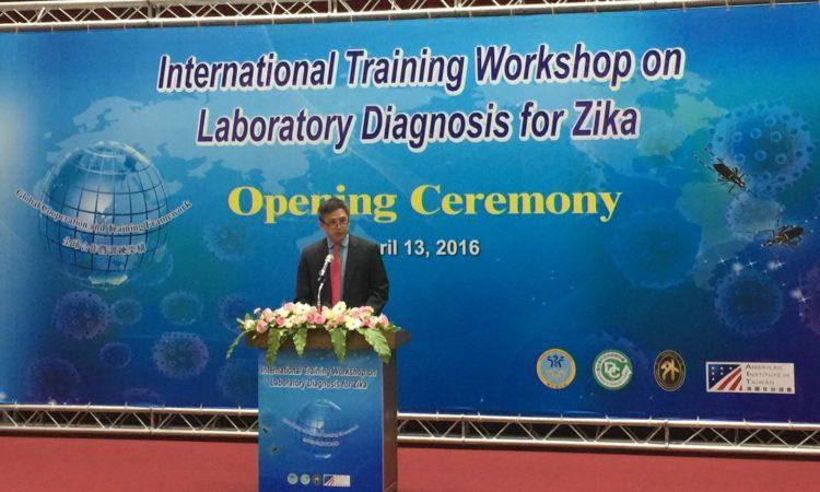 AIT Director Moy Helps Launch International Zika Laboratory Diagnosis Workshop