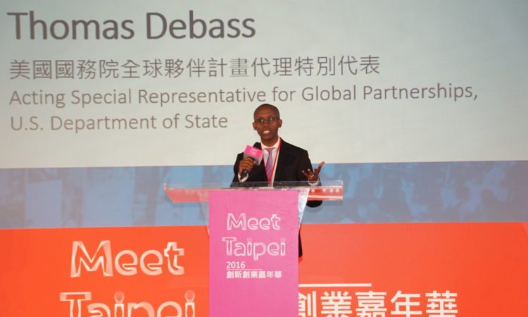 Remarks by Acting Special Representative for the Secretary's Office of Global Partnerships Thomas Debass at Meet Taipei (Photo: AIT Image)