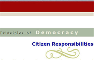 Principles of Democracy: Citizen Responsibilities