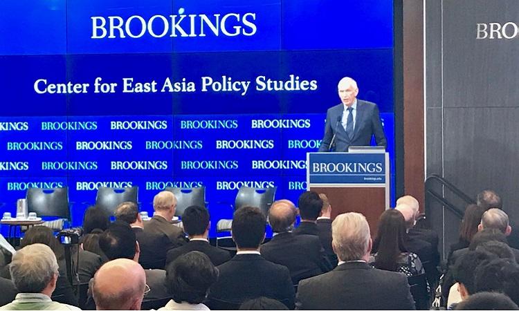 美國在台協會主席莫健 (James Moriarty) 在布魯金斯研究院 (Brookings Institution) 演講稿