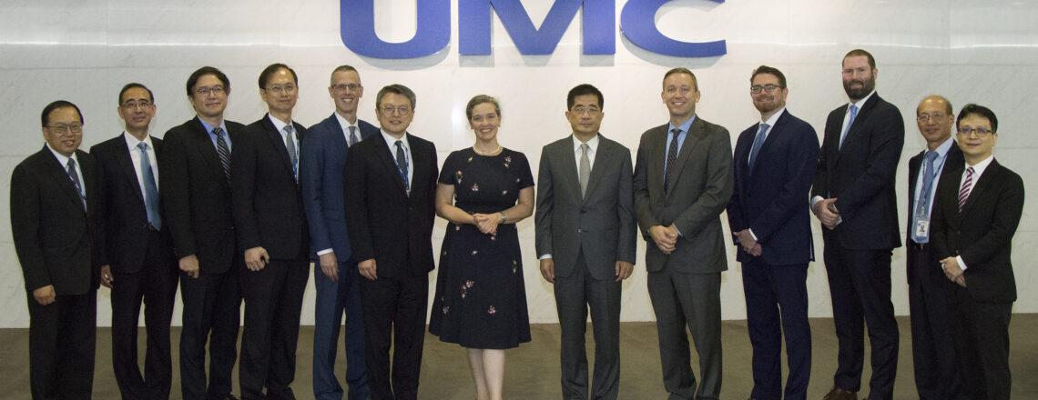 美國在台協會處長孫曉雅與聯華電子董事長洪嘉聰會面討論如何強化全球半導體供應鏈