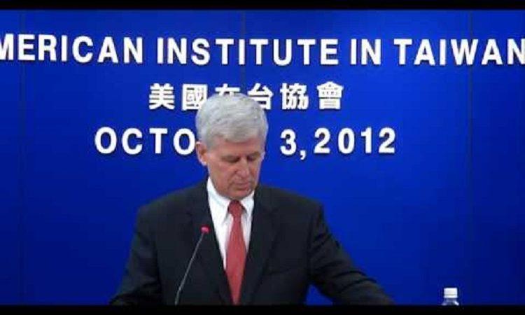 美國在台協會馬啟思處長記者會 2012年10月3日