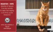 Voting Campaign Graphic – Cat – Registering to Vote