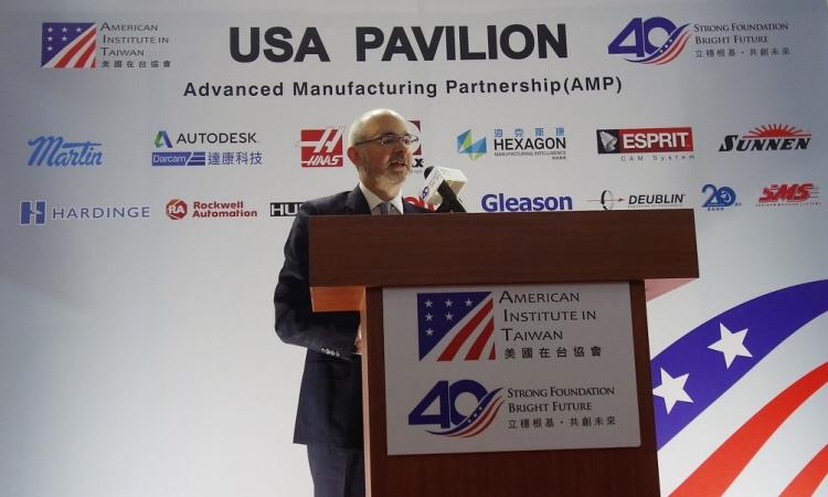 美國在台協會副處長谷立言「2019台北國際工具機展—美國館」開幕致詞