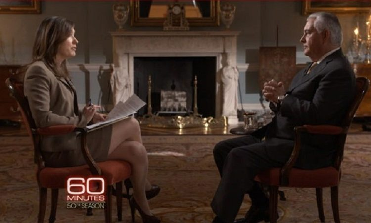 Secretary Tillerson's Interview With Margaret Brennan of CBS 60 Minutes (Photo credit: CBS News)