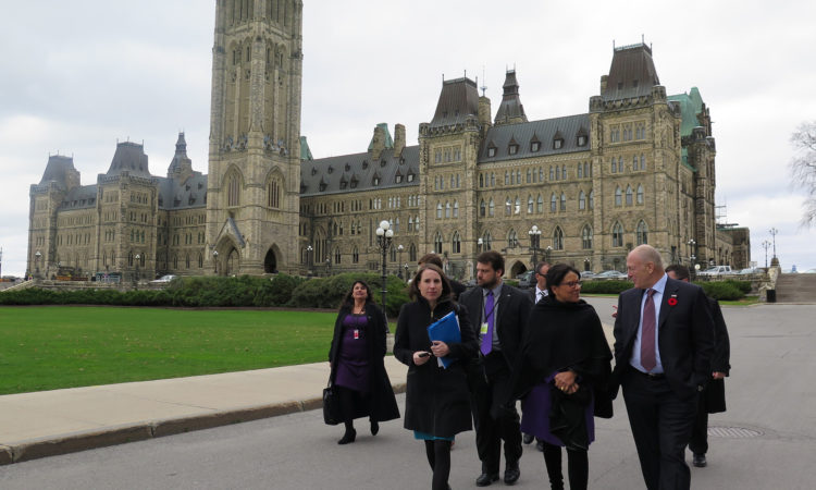 Commerce Secretary Penny Pritzker and Ambassador Bruce Heyman discuss US-Canada trade following meetings on Parliament Hill.