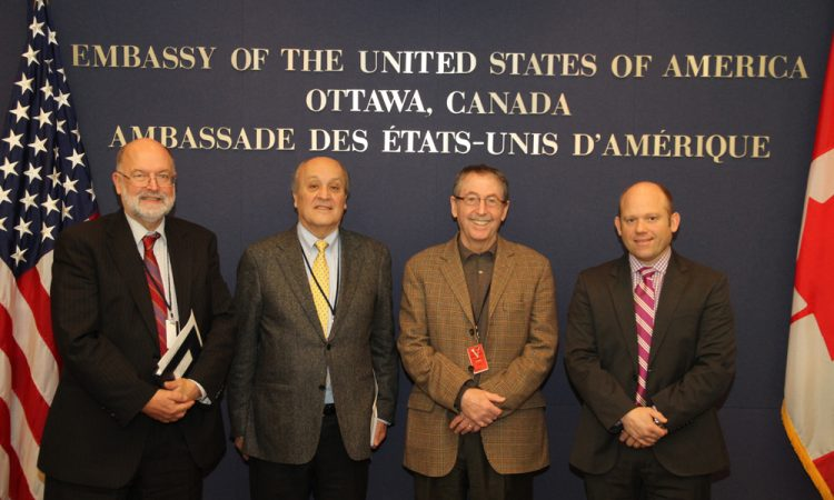 Peter Taylor, Canadian Foreign Affairs (DFATD) Policy Advisor; Mario Rodriguez-Montero, Head of Trade and Investment at the Embassy of Mexico in Canada; Stephen Blank; Neal Burnham, DFATD Deputy Director.