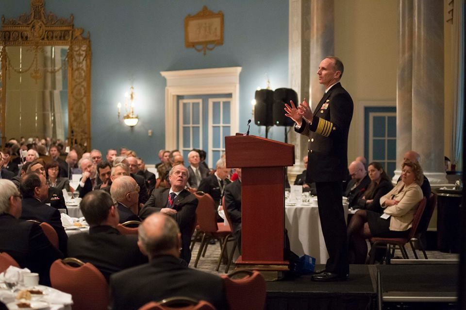 Chief of Naval Operations (CNO) Adm. Jonathan Greenert speaks at the Ottawa Conference on Defence and Security.