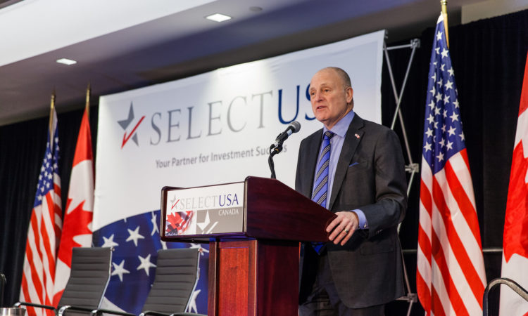 Ambassador Heyman at the SelectUSA Canada Conference.