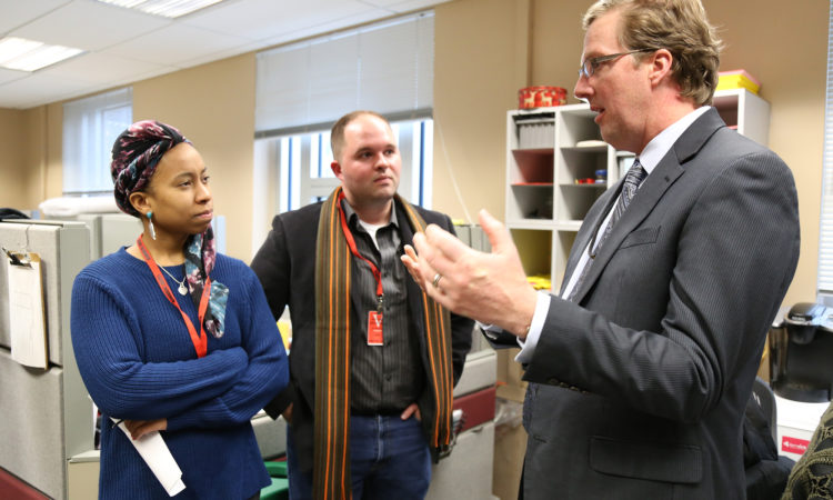 Toronto student media interview Consulate General visa chief Scott Renner.