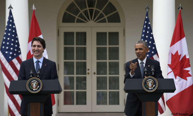 President Barack Obama answers a question during a news conference with Canadian Prime Minister Justin Trudeau, in the Rose Garden of White House in Washington, Thursday, March 10, 2016. (AP Photo/Susan Walsh)
