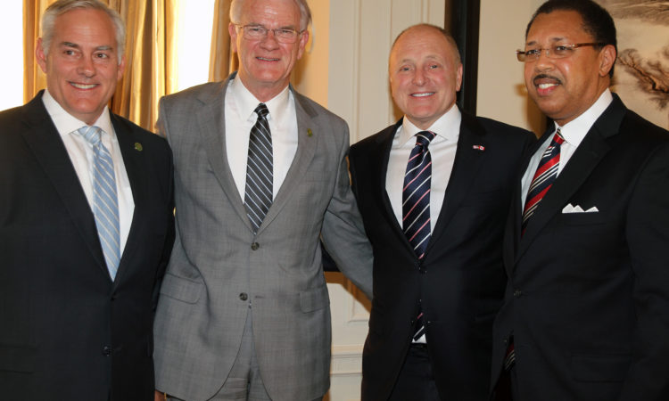 Ambassador Heyman welcomes the Memphis in May delegation to Ottawa. (Credit US Embassy Ottawa)