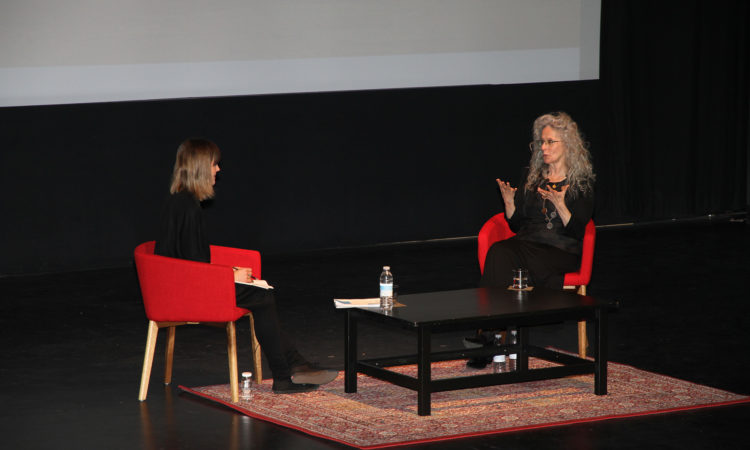 Kiki Smith speaks at the National Gallery of Canada as part of the Contemporary Conversations series. (Credit US Embassy Ottawa)