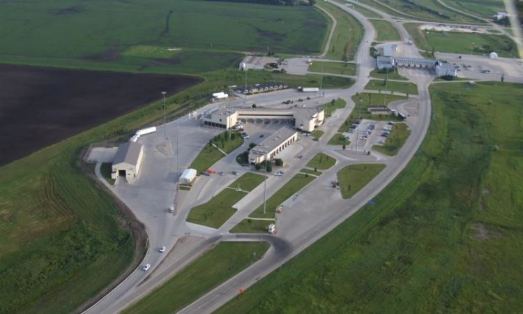 Aerial view of Pembina Port of Entry in North Dakota (Credit Customs and Border Protection)
