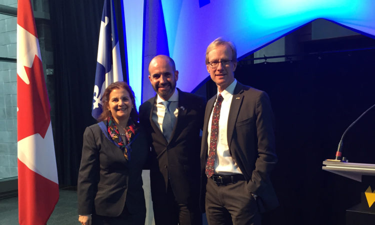 Consuls General Nina Fite and Hale VanKoughnett celebrate Israeli independence day. (Credit US Consulate Quebec)