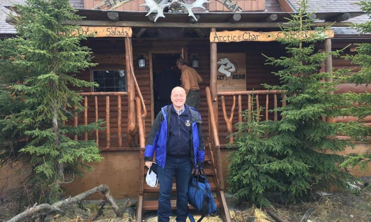 Ambassador Heyman at Churchill, Manitoba's Lazy Bear Hotel. (Credit Ambassador Bruce Heyman)