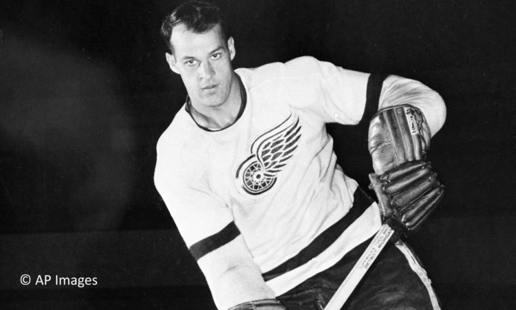 Gordie Howe of the Detroit Red Wings 1956. (AP Photo)