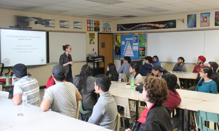 Toronto Inaugurates Speakers Bureau at Chinguacousy Secondary School