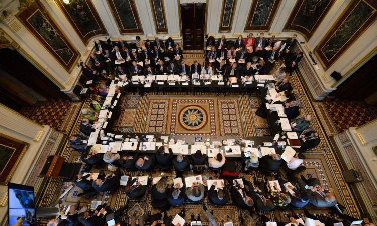 Science Ministers gather for the White House Arctic Science Ministerial. Credit White House.