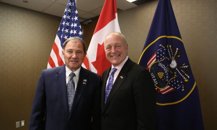Governor Herbert and Ambassador Heyman in Toronto. Credit US Embassy Toronto.