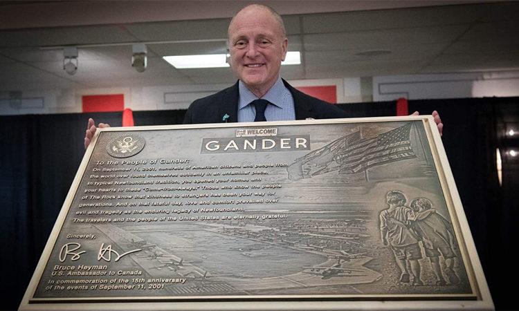 Ambassador Heyman in Gander, NL