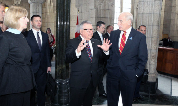 Secretary Kelly meets with Minister Goodale. Credit Public Safety Canada/Twitter.