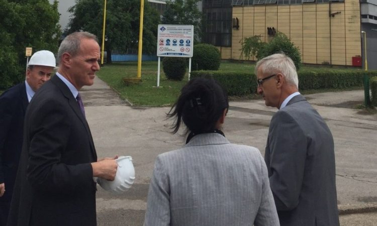Deputy Chief of Mission Paul Horowitz and Economic Chief John Ashworth visited Tuzla