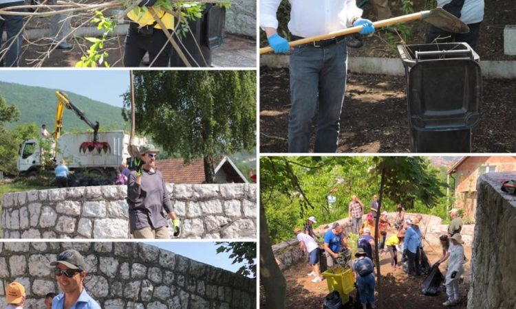 Embassy staff clean Vraca memorial Park in Sarajevo