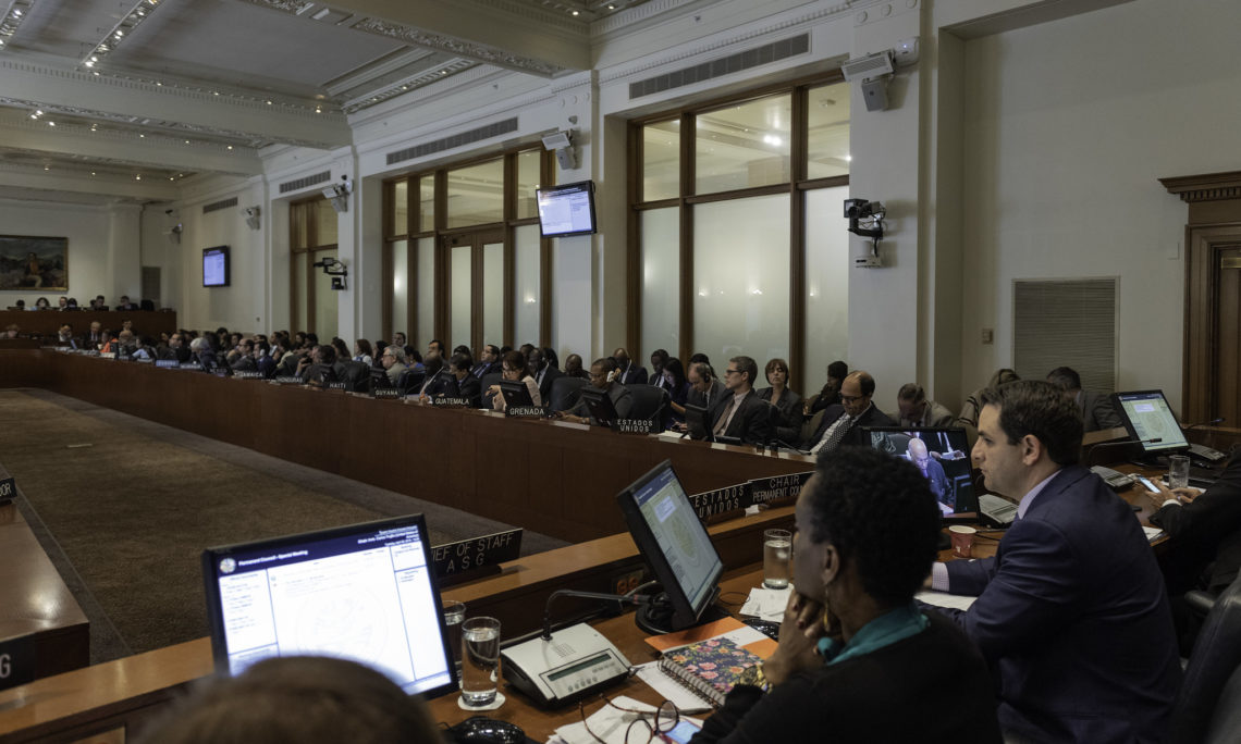 On April 9, 2019, the OAS Permanent Council adopted a resolution accepting the appointment of the Permanent Representative of the interim President of Venezuela, Juan Guaido. (OAS Photo)