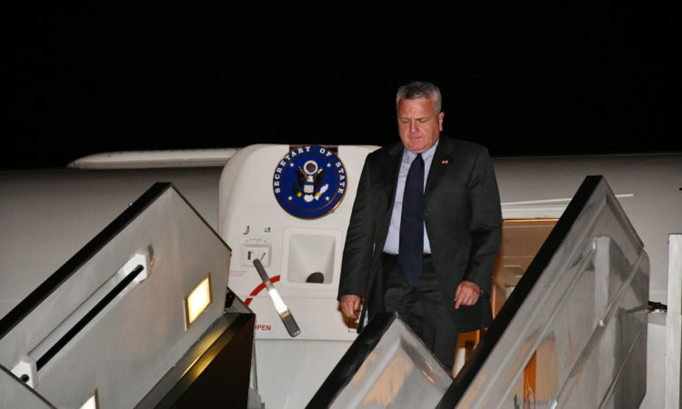 Acting Secretary of State John Sullivan arrives in Lima, Peru for the Eighth Summit of the Americas on April 11, 2018.[State Department photo/ Public Domain]