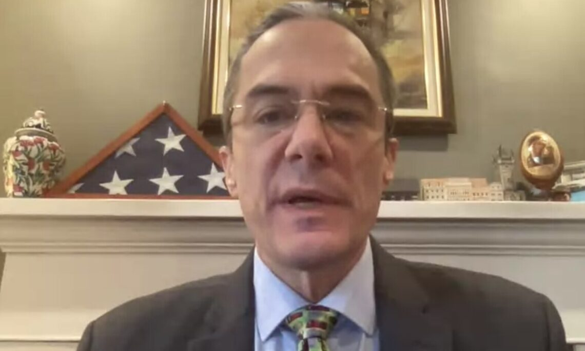 Bradley A. Freden, U.S. Interim Permanent Representative to the OAS addresses the Permanent Council,.