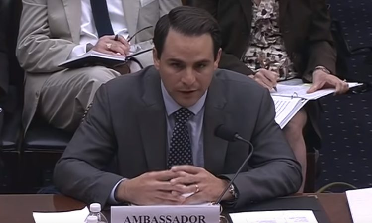 "Ambassador Carlos Trujillo, Permanent Representative of the United States to the Organization of American States (OAS), testifies before the House Foreign Affairs Committee's Subcommittee on the Western Hemisphere, July 12, 2018. The hearing was entitled – ""Nicaraguan Crisis: Next Steps to Advancing Democracy."""