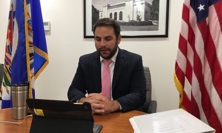 Ambassador Carlos Trujillo addresses the 50th session of the OAS General Assembly on the situation in Venezuela. October 21, 2020.