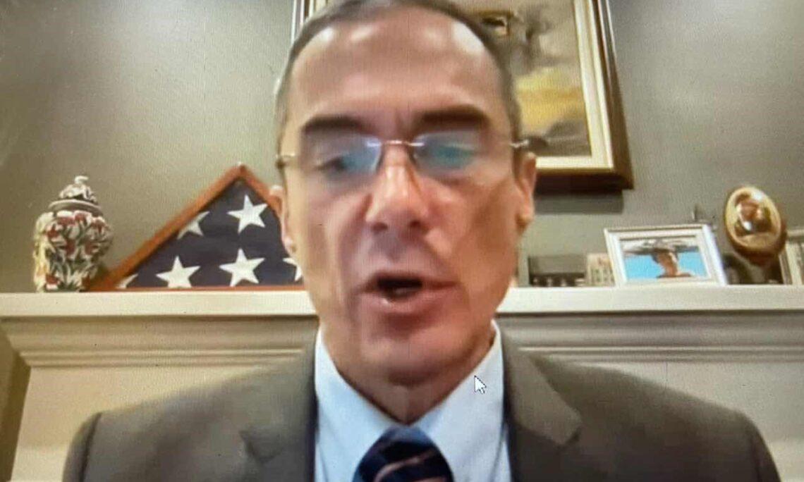 Bradley A. Freden, U.S. Interim Permanent Representative to the OAS addresses the Permanent Council,
