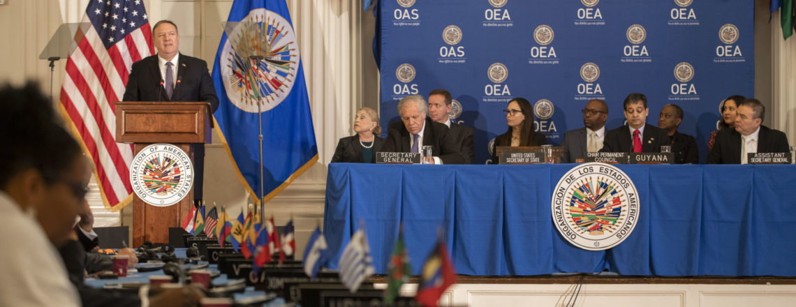 Secretary Pompeo Addresses a Protocolary Session of the OAS Permanent Council