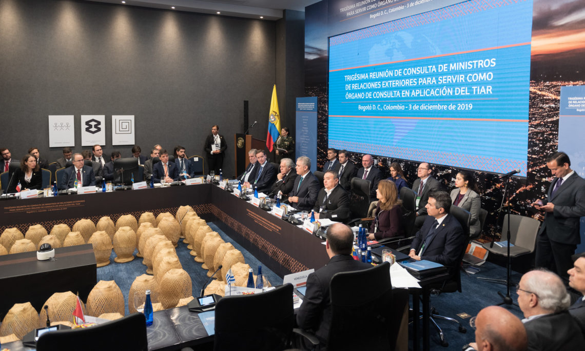 30th Meeting of Foreign Ministers of States Party to the Rio Treaty, Bogota, Colombia, December 3, 2019. (OAS Photo)