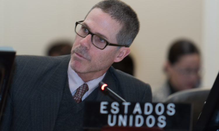 Alexis F. Ludwig, Deputy U.S. Permanent Representative to the OAS, addresses the Permanent Council, November 21, 2019. (OAS Photo)